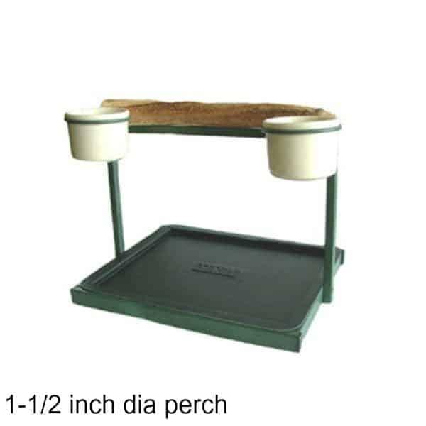 Traveler Table Top Bird Stand Green w 1 inch Perch