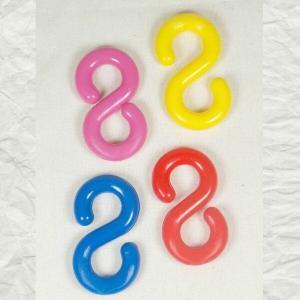 Plastic S Hook Links For Plastic Chain & Bird Toys 8 mm 4 pc