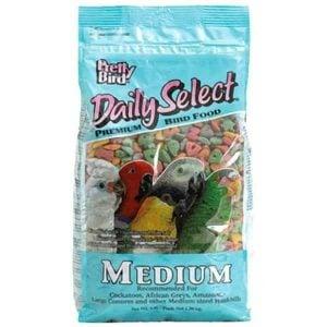 Pretty Bird Daily Select Medium Parrot Bird Food Pellets 8 lb