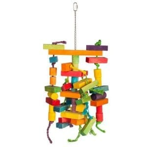 Bodacious Bird Toy for Large Parrots – Building Maze