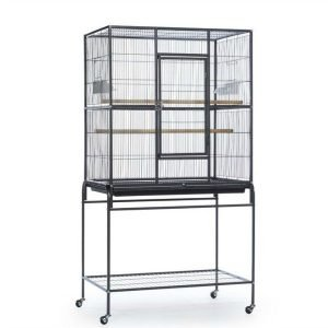 Indoor Aviary Flight Cage for Small Birds Prevue F046 Black