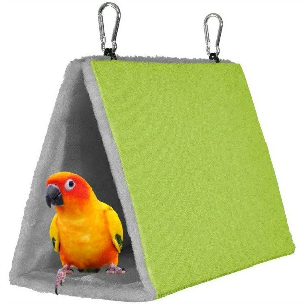 Warm Snuggle Hut for Birds by Prevue Medium Green