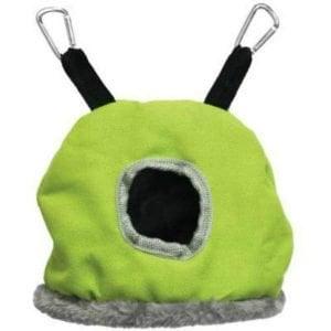 Warm Snuggle Sack for Birds 1167G Prevue Small Green