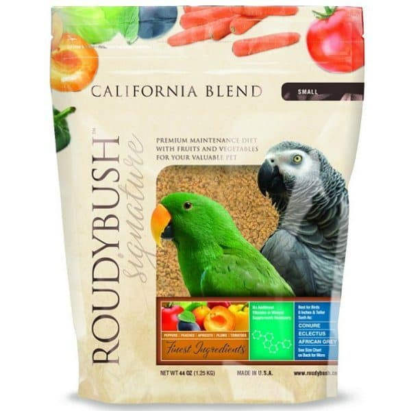 Roudybush small california blend bird food pellet 44 oz 1. 25 kg 5