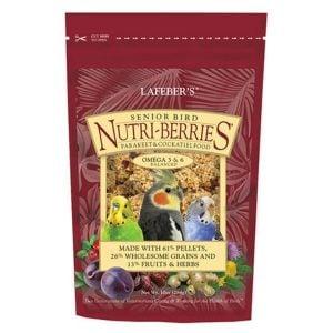 Lafebers Senior Bird Nutri-berries Parakeet Cockatiel 10 oz