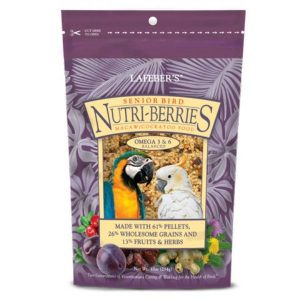 Lafebers Senior Bird Nutri-berries Macaw Cockatoo 10 oz