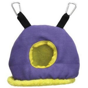 Warm Snuggle Sack for Birds by Prevue Small Purple