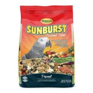 Higgins Sunburst Parrot Size Gourmet Bird Food 25 lb