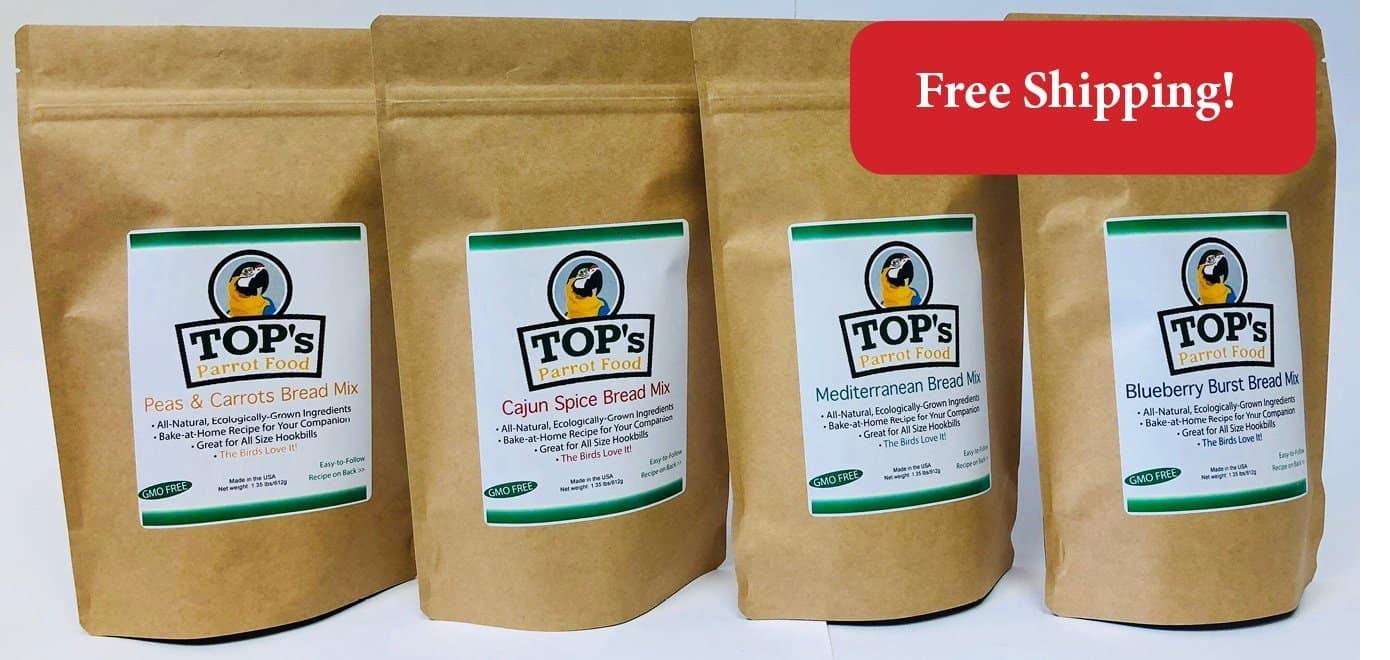 4 PACK TOPS Premium Birdie Bread Mix Bundle