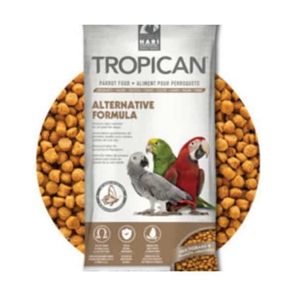 Tropican Alternative Parrot NO Soy NO Corn by Hagen Hari 20 lb (9.7 kg)