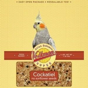 Volkman Avian Science Super Cockatiel No Sunflower Mix 2 Lb (.9 Kg)