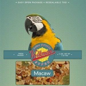 Volkman Avian Science Super Macaw NO SUNFLOWER 20 Lb