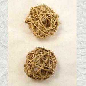 Munchie Woven Vine Balls for Bird Toy Parts 2 Inch 2 pc